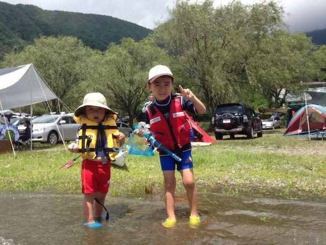 オールドフジタカヌー出撃!富士西湖でカヤック&水遊び
