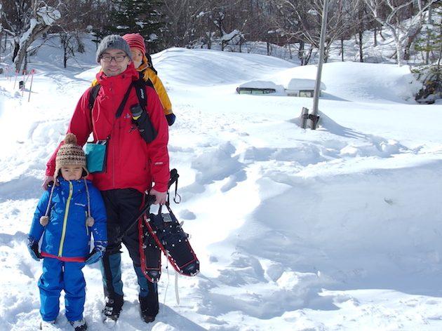 雪の五色沼でスノーシューハイク(裏磐梯遠征その1)