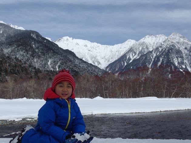 雪の上高地へ〜父子スノーシューハイク(前編)