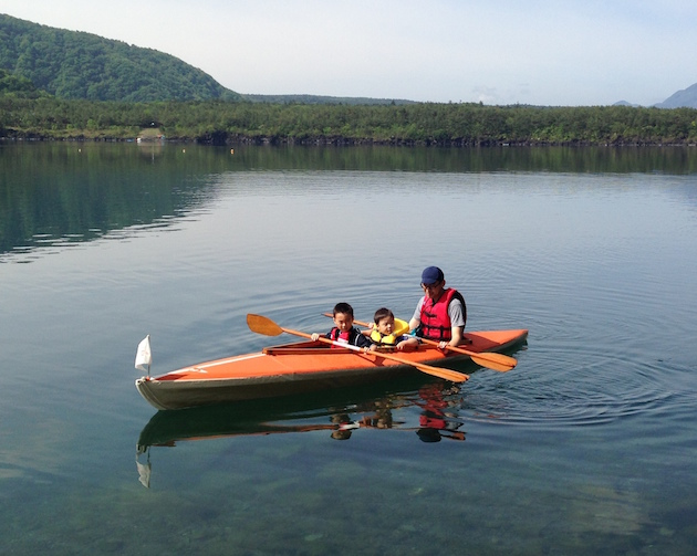 2015初漕ぎ!富士西湖でカヤック