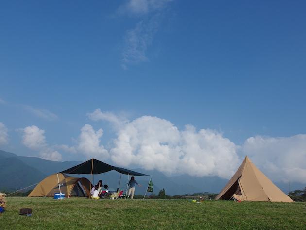 朝霧高原で父子キャンプ