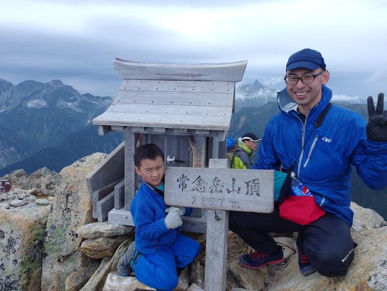 表銀座縦走路で燕岳〜大天井岳〜常念岳へ〜子供とテント泊登山(その3)
