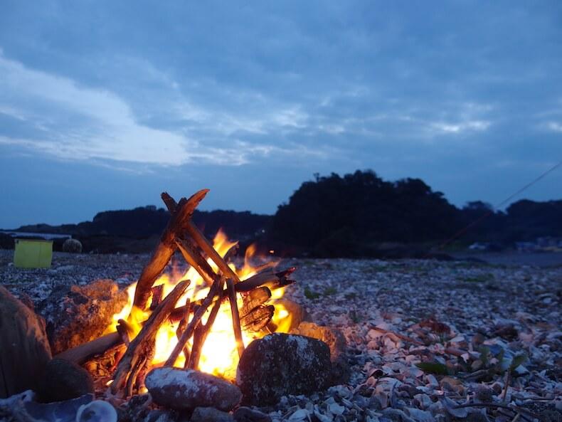 大好きな場所へ〜秋の三浦半島で子供と野営
