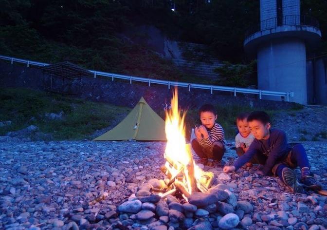 電車で父子キャンプ〜川井キャンプ場