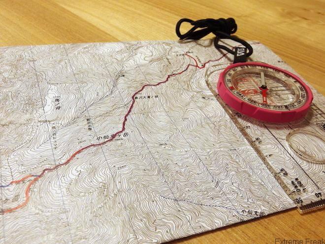 お気に入りの地形図印刷アプリ TrailNote