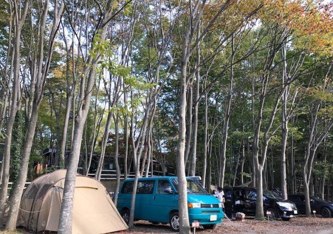 家族で焚き火を囲む秋のキャンプ〜長瀞オートキャンプ場