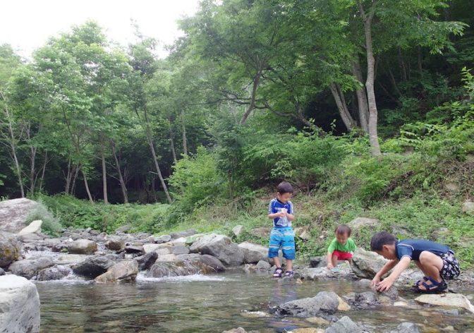 自然満喫、川あそびキャンプ〜芦川オートキャンプ場