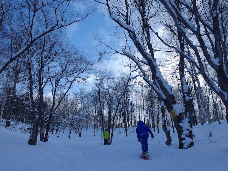 滝野すずらん丘陵公園でスノーハイク(北海道)