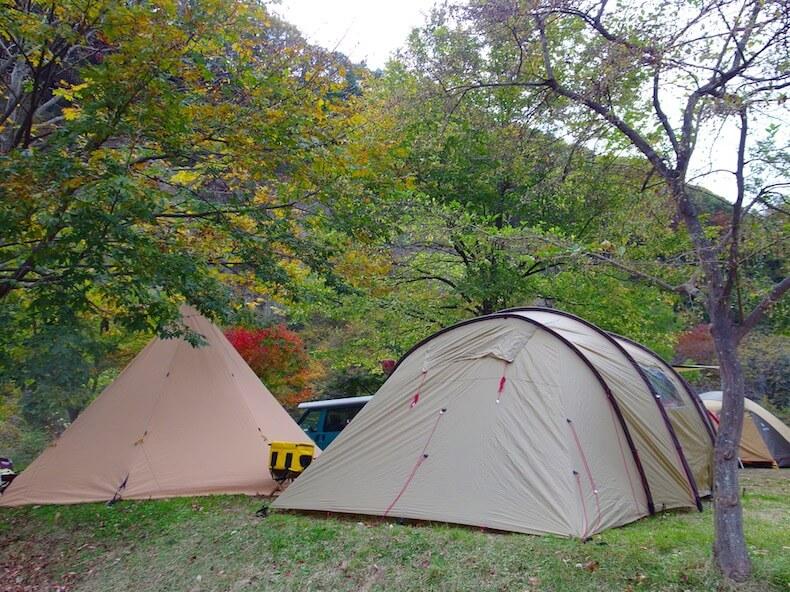 湯島オートキャンプ場で復活キャンプ