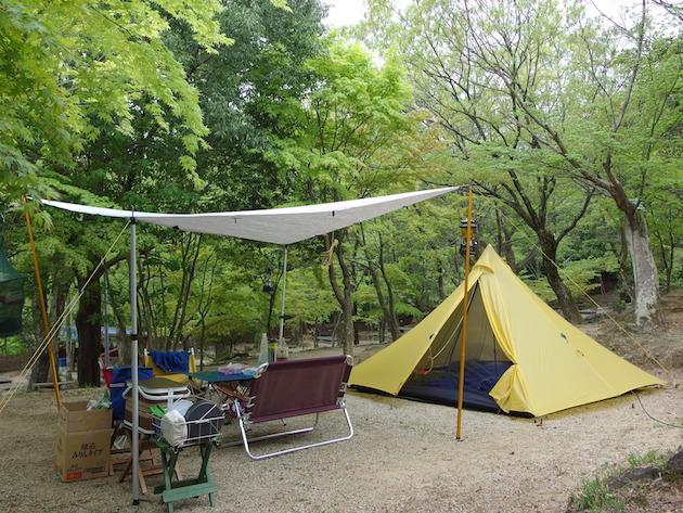 夜景が見える尾高キャンプ場〜GW奈良・三重遠征その3