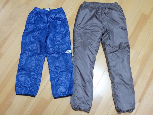 厳冬期テント泊も冬キャンプもこれで万全!子供用の保温パンツ、キッズプリマロフトパンツ/Kids Primaloft Pants