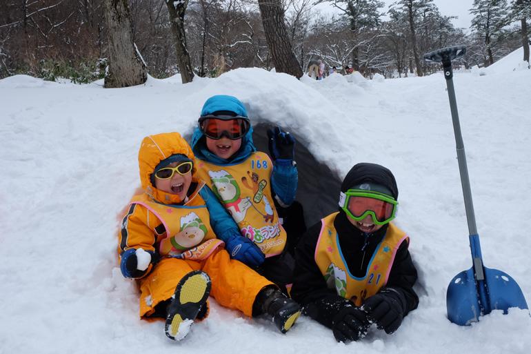 大山(だいせん)の麓で雪遊び~山陰遠征(雪遊び編)