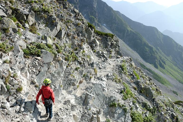 ザイテングラートで下山開始