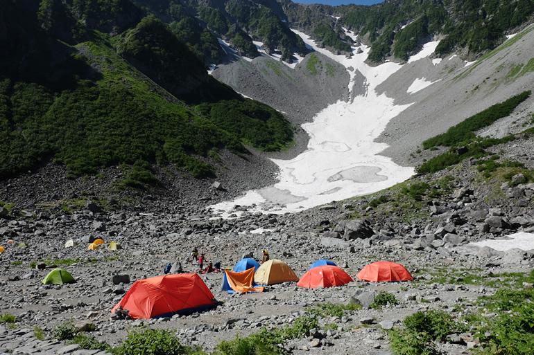 涸沢のテント場