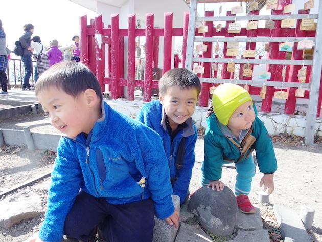 榛名富士に登頂。三角点タッチ!