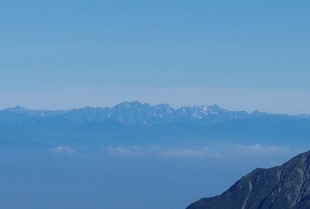 北アルプス、槍ヶ岳、穂高連峰