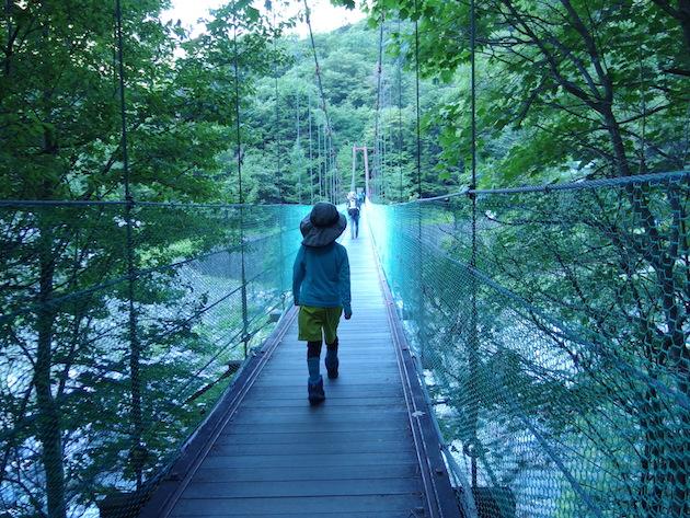 広河原の吊り橋