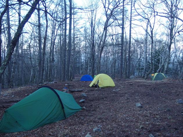富士見平小屋テント場の朝