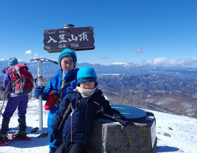 厳冬期の入笠山に登頂!