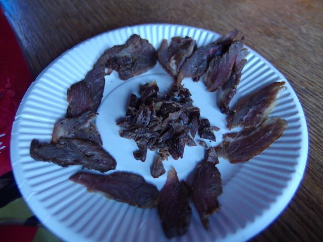 三条の湯特製鹿肉の燻製