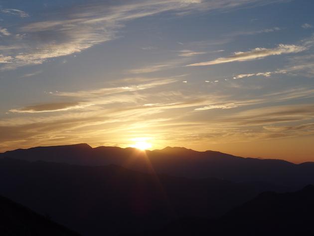 蓬峠からの夕日