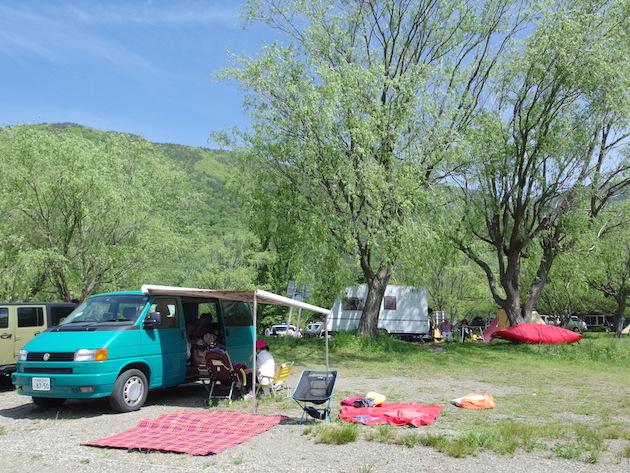 西湖自由キャンプ場